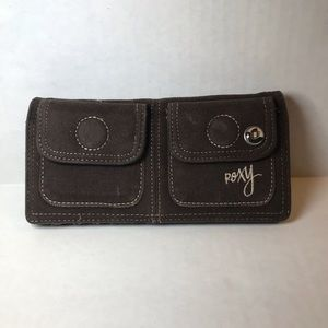Brown suede Roxy wallet